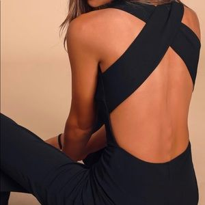 Lulus Thinking Out Loud Black Backless